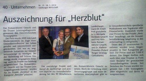 Vorsorgepreis 2014: Brillantes Siegerprojekt